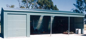 Fair Dinkum Open Farm Shed with One Enclosed Bay